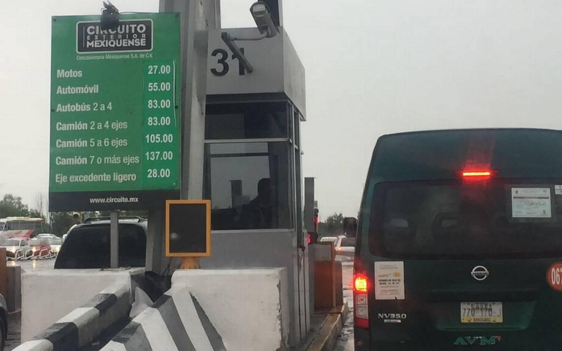 Aumentan otra vez las tarifas en el Circuito Exterior Mexiquense