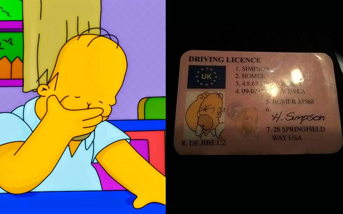 ¡D'oh! Conductor intenta eludir a policía con licencia de Homero Simpson