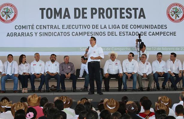 Rinde protesta nuevo líder de la CNC en Campeche