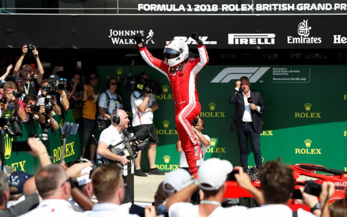 Vettel gana el GP de Gran Bretaña por delante de Hamilton