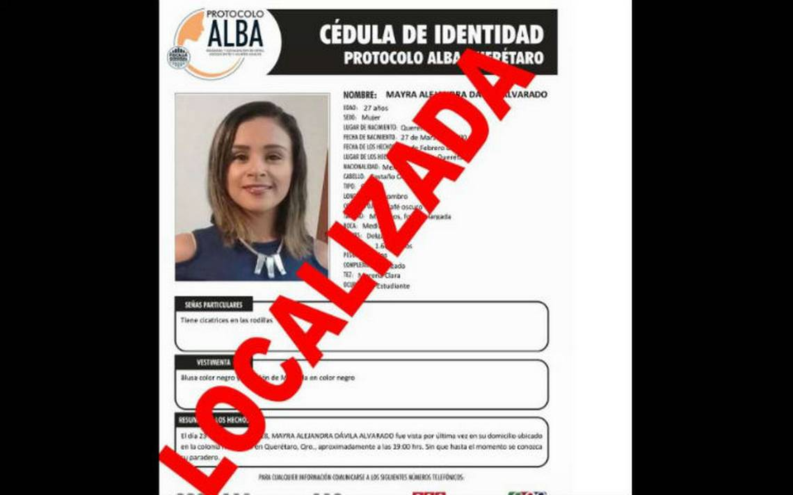 Localizan a activista desaparecida desde febrero en Querétaro