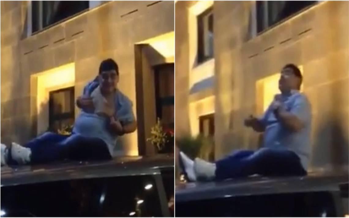 Captan a Maradona, otra vez en estado inconveniente