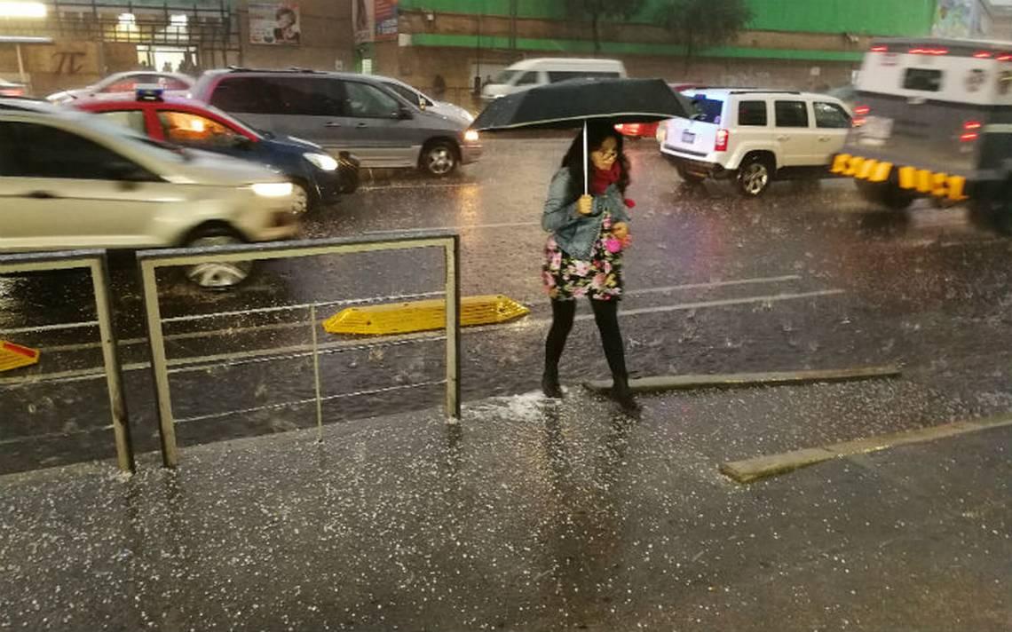 Para este domingo prevén lluvia en la CDMX y granizo en Edomex