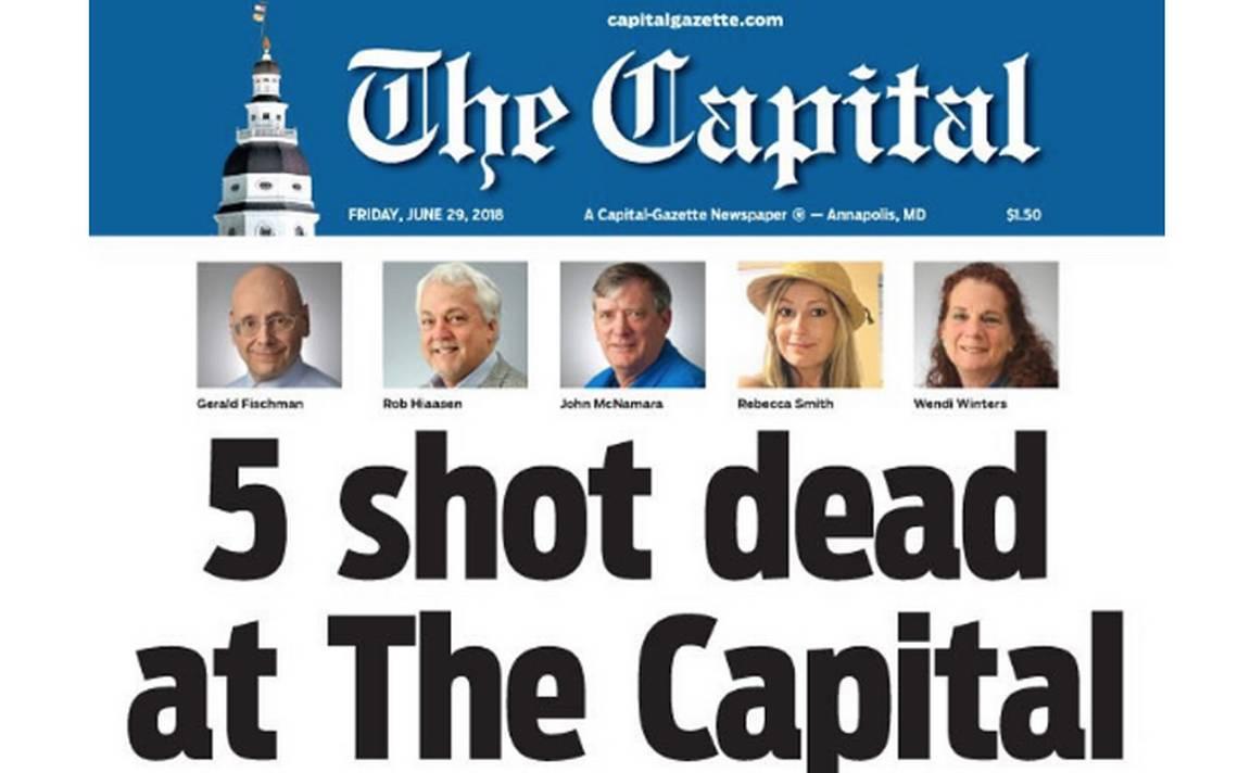 Capital Gazette imprime su diario con un homenaje a compañeros muertos en tiroteo