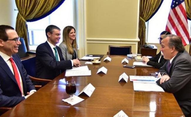 Secretarios de México y EU se reúnen para trabajar contra el lavado de dinero