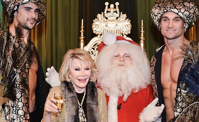 Desde el más allá, Joan Rivers desea a todos una Feliz Navidad