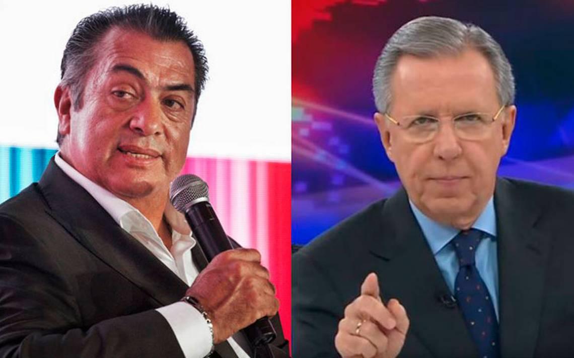 """El Bronco y López-Dóriga, enfrascados en """"guerra"""" de acusaciones y descalificaciones"""