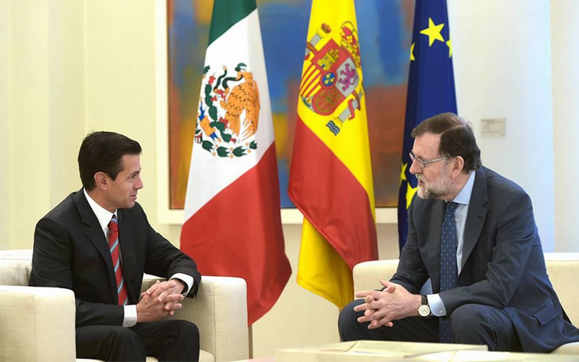 Celebran Rajoy y PeA�a Nieto acuerdo para modernizar relaciA?n UE-MA�xico