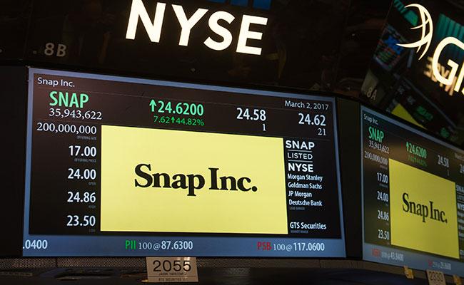 Snapchat debuta con éxito en Wall Street con alza de más del 40%