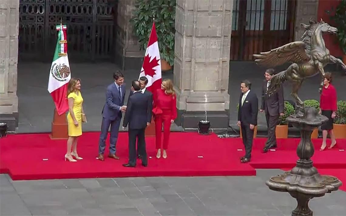Presidente Peña Nieto da bienvenida a Justin Trudeau, Primer Ministro de Canadá