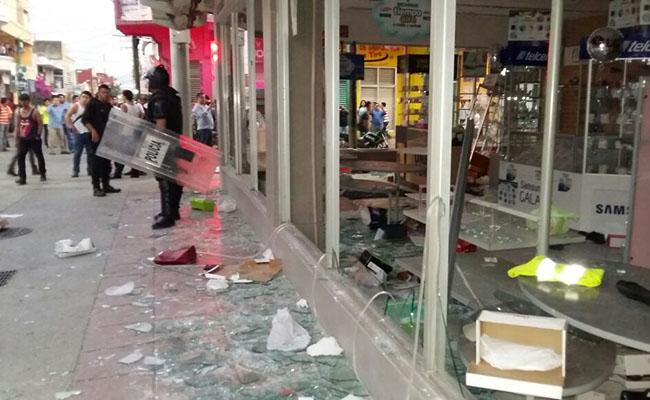 Suman 82 detenidos por saqueo y vandalismoen Tapachula