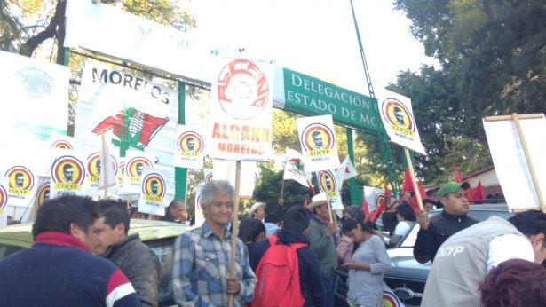 Campesinos del Congreso Agrario toman Sagarpa