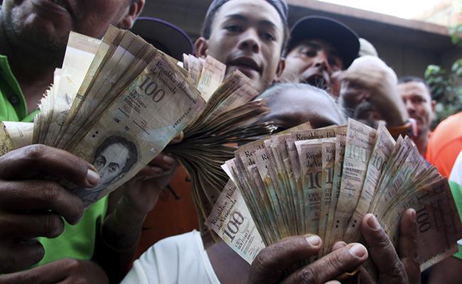 Disturbios en Caracas por fallas en el suministro de dinero en efectivo