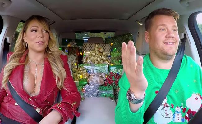 La navidad llega de la mano de Mariah Carey al Carpool Karaoke