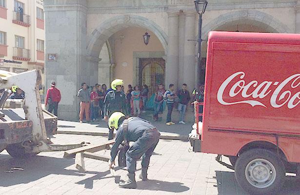 Recupera Policía de Oaxaca vehículos de empresas transnacionales secuestrados por normalistas
