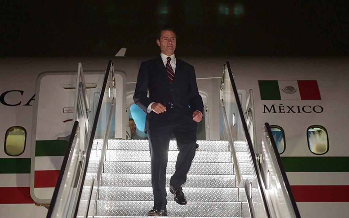 Tras gira por Nueva York, Peña Nieto arriba a la Ciudad de México