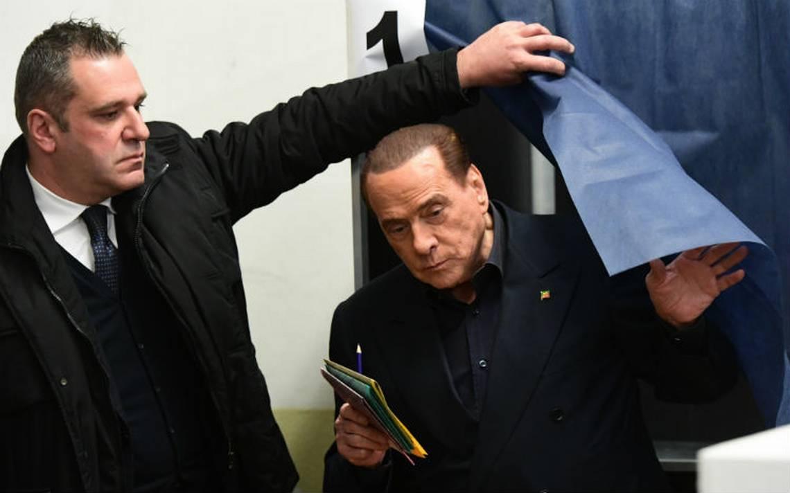 Coalición de Berlusconi encabeza sondeos en Italia; Movimiento 5 estrellas, el partido más votado