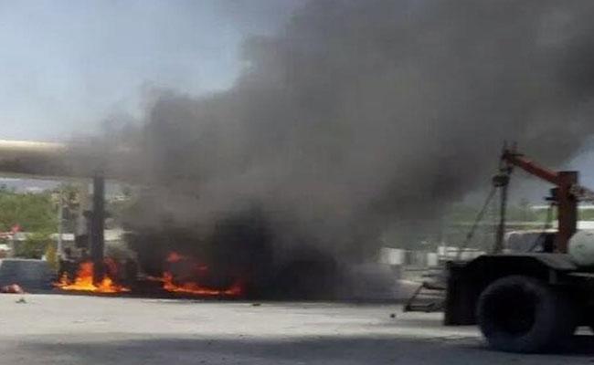 Pipa arde en llamas en el estado de Tabasco