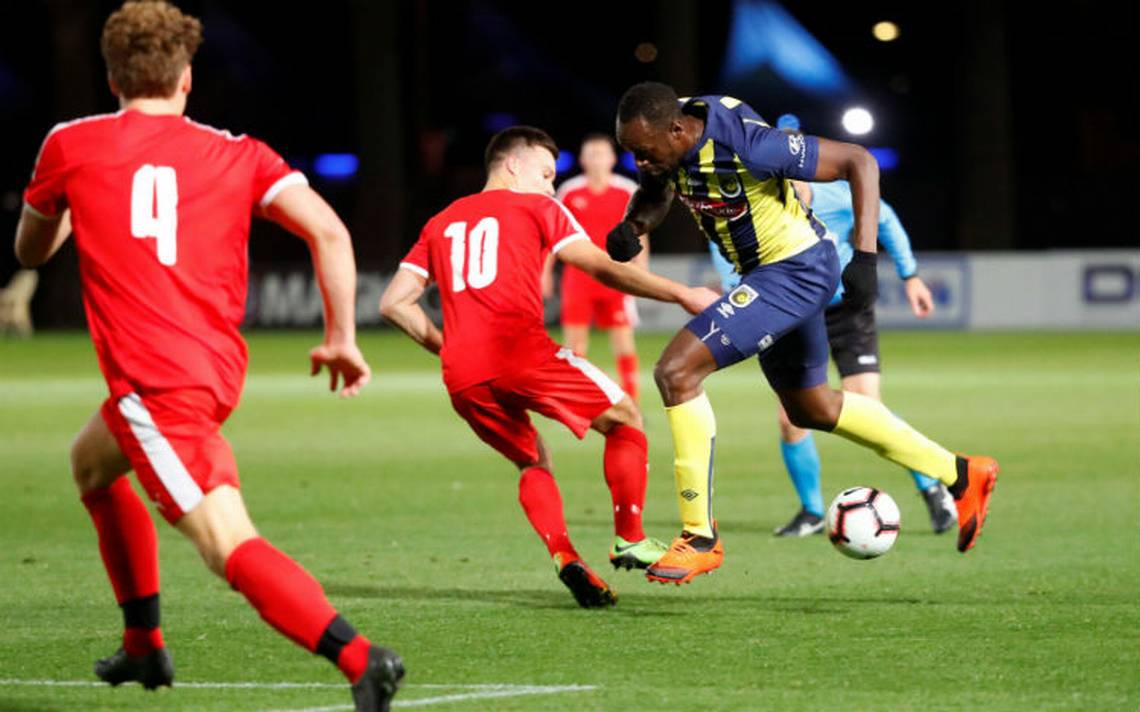 Usain Bolt cumplió su sueño y debuta como futbolista profesional