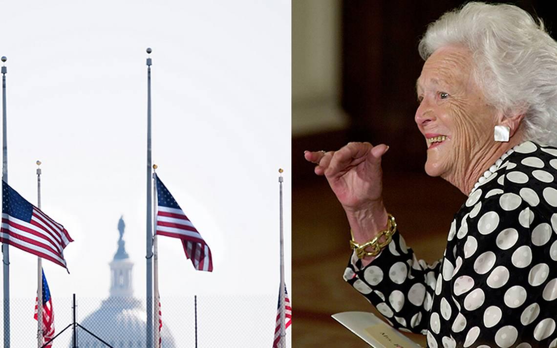 Así rinde homenaje EU a Barbara Bush: será sepultada en Houston