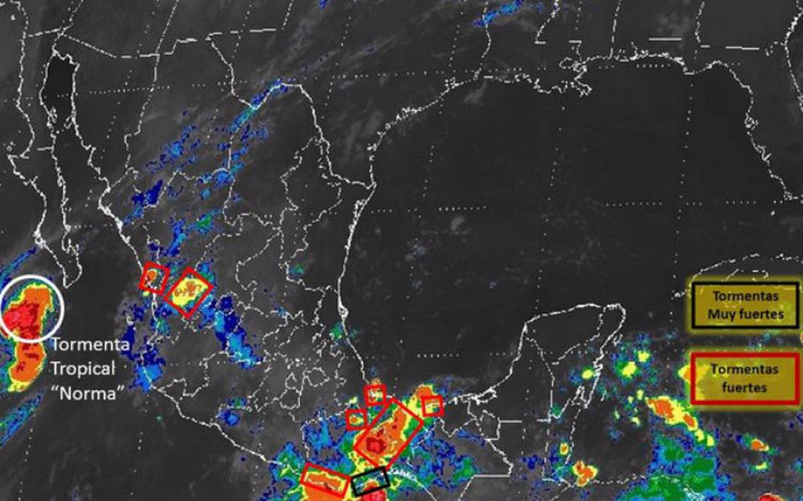 Norma, onda tropical 34 y canal de baja presión mantendrán lluvias en el país