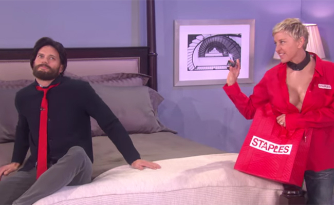 Ellen Degeneres y Jamie Dornan realizan parodia de 50 Sombras