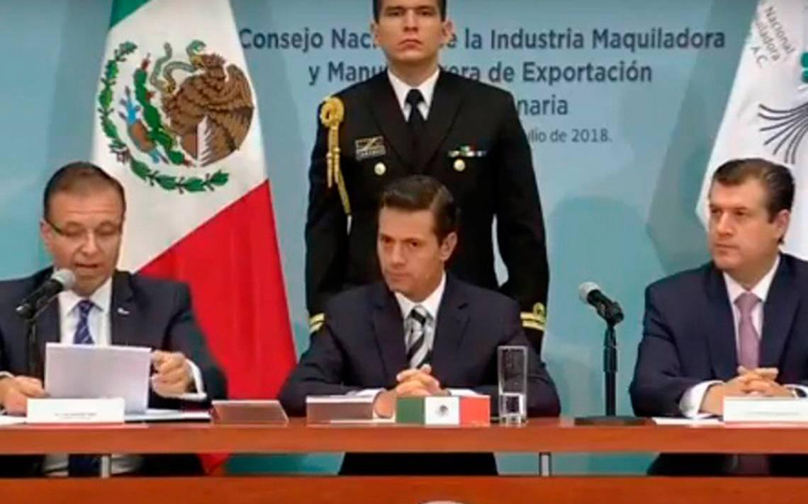 Peña Nieto confía que en agosto concluya renegociación del TLCAN