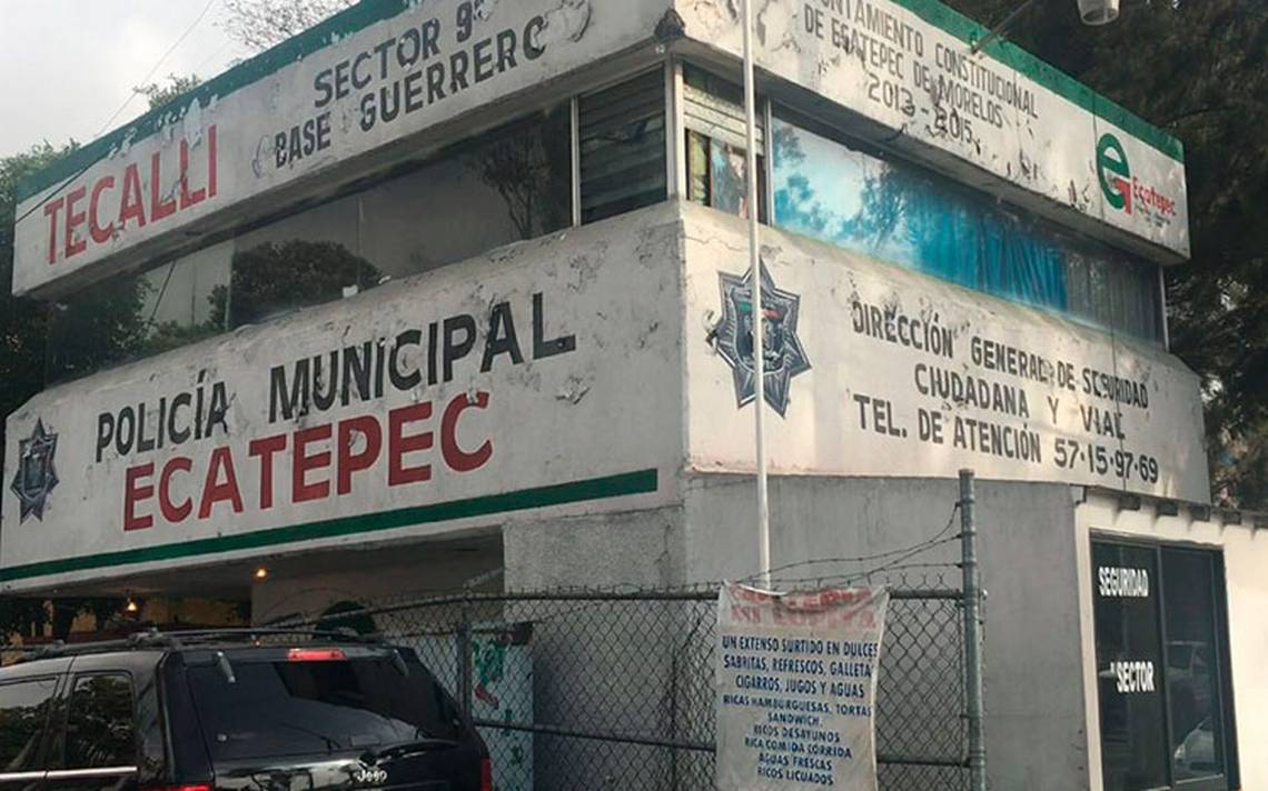 Encapuchados roban armas a la Policía municipal de Ecatepec