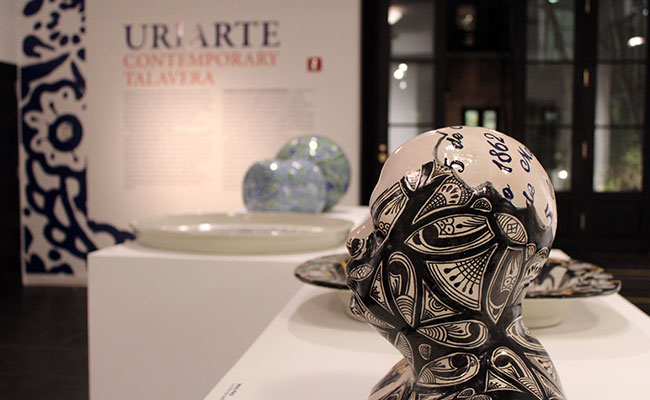 Obras de arte creadas con talavera de Puebla