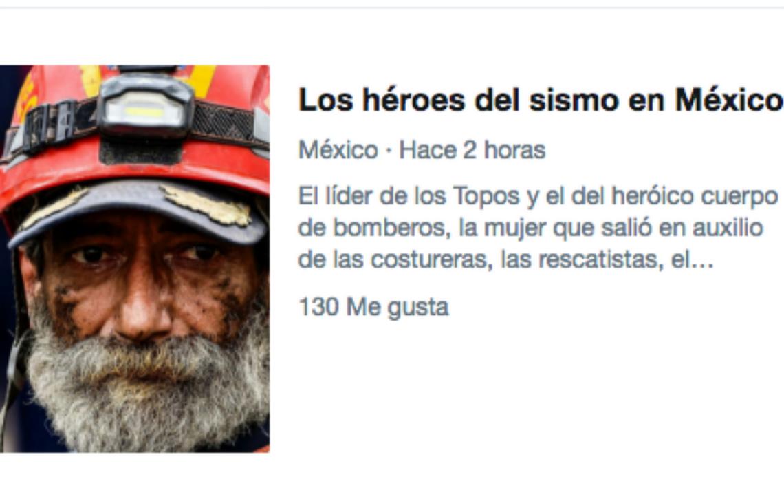 """Twitter rinde homenaje a los """"héroes del sismo en México"""""""