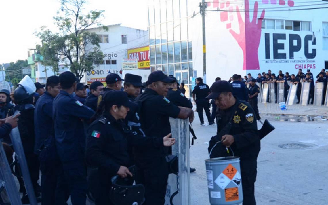 Tres heridos deja balacera en el Instituto Electoral de Chiapas
