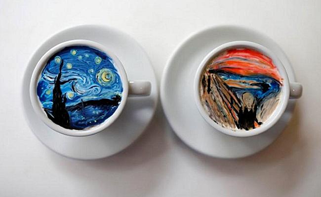 ☕ Camarero surcoreano triunfa dibujando cuadros famosos en la crema del café