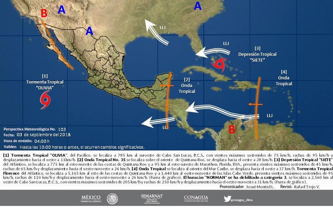 Efectos de tormenta tropical Olivia pegarán en Baja California