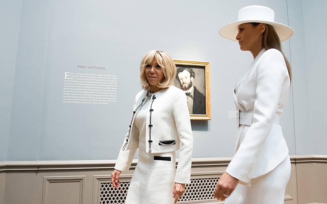 Esposa de Macron revela cA?mo es la vida de Melania Trump en la Casa Blanca