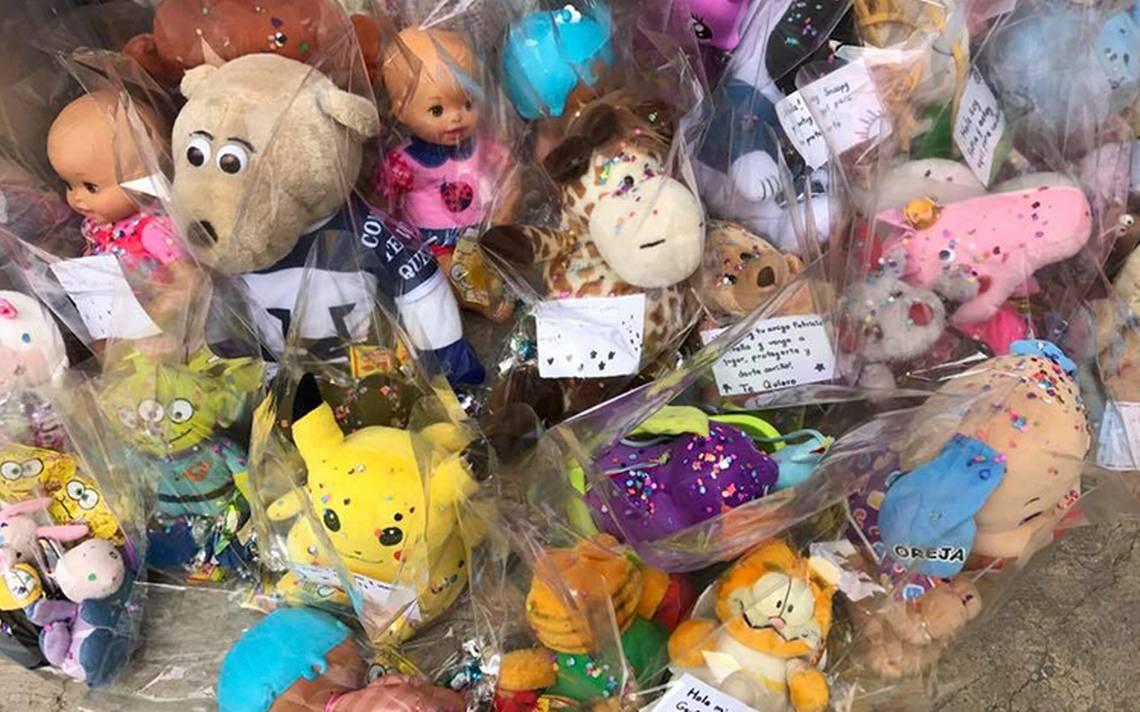 Peluches se vuelven rescatistas; realizan colecta para niños de albergues