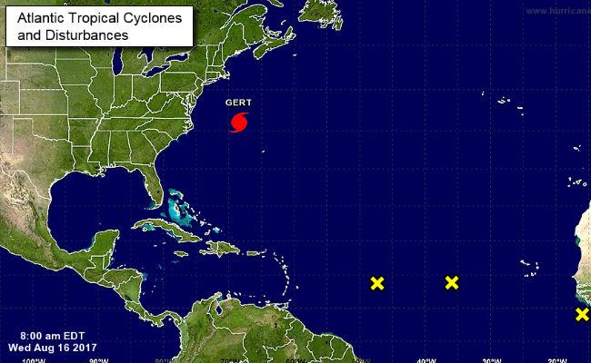 Huracán Gert se fortalece rumbo al norte del Atlántico