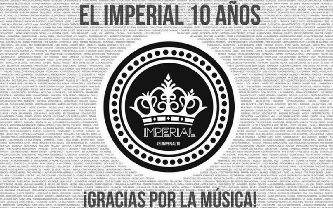 Tras 10 años de música y fiesta, El Imperial cierra sus puertas