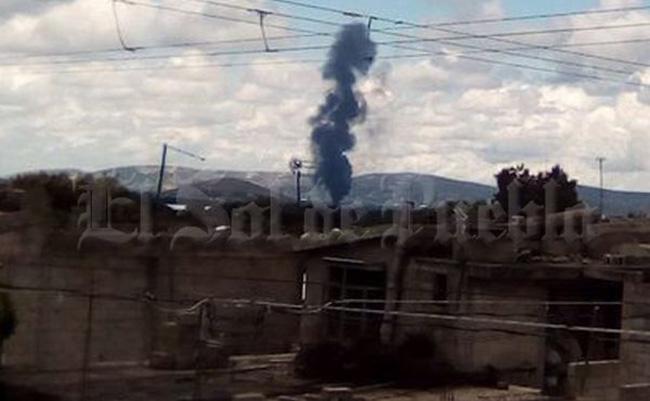 Explota bodega en Puebla donde almacenaban huachicol