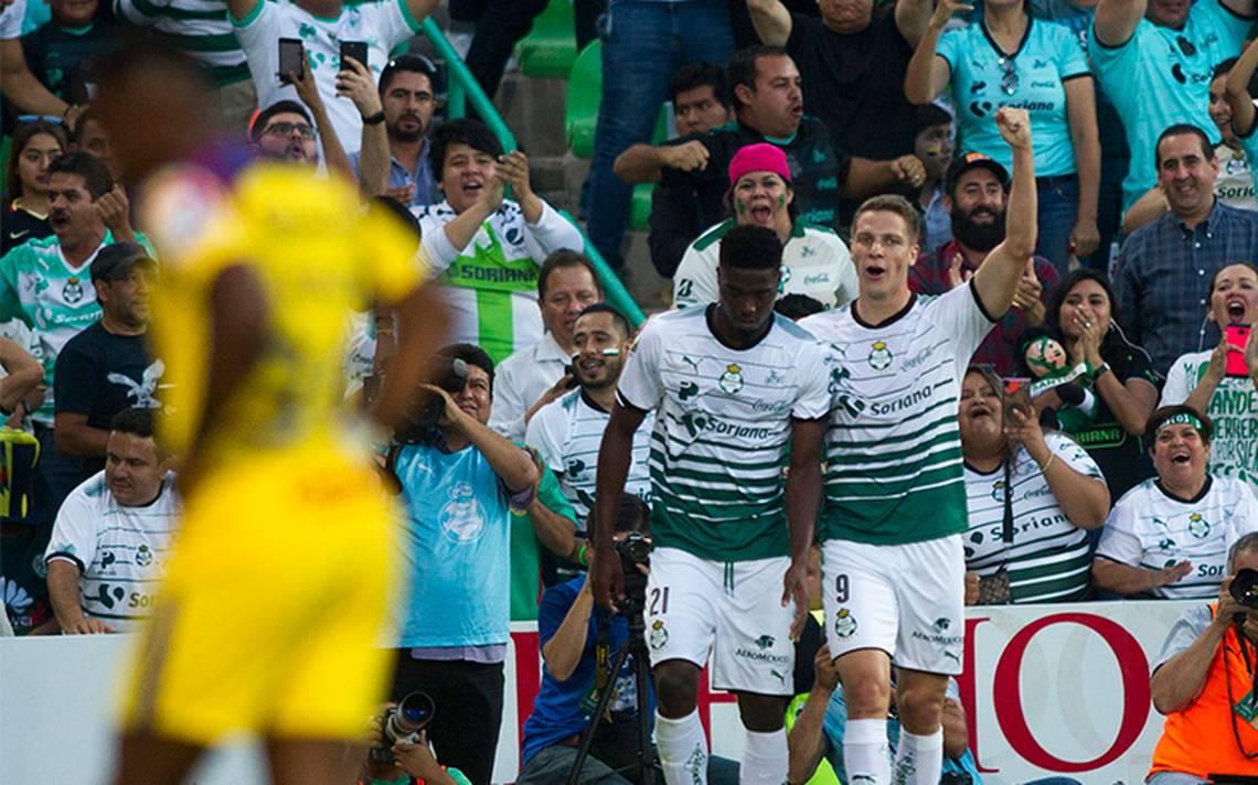 Santos frena el vuelo de las águilas: golea 4-1 al América
