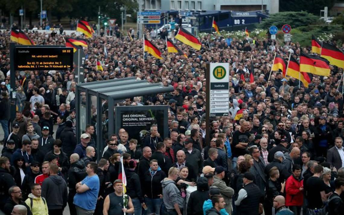 Enorme tensión en Alemania marcha antiimigrante