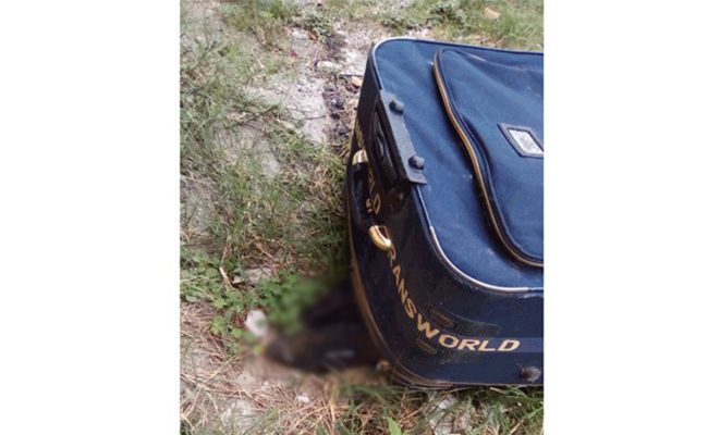 Hallan maleta con cadáver dentro, en Nogales