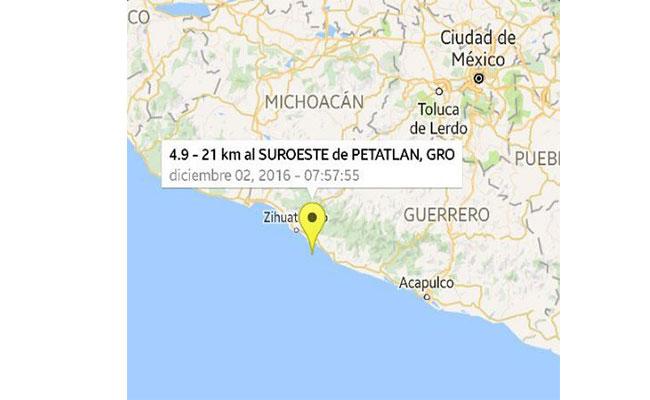Se registra sismo de 5 grados a 29 kilómetros de Acapulco, Guerrero