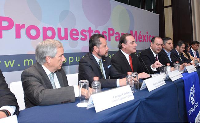 Presenta Coparmex Propuestas para México; junto con el CCE buscan fortalecer la economía