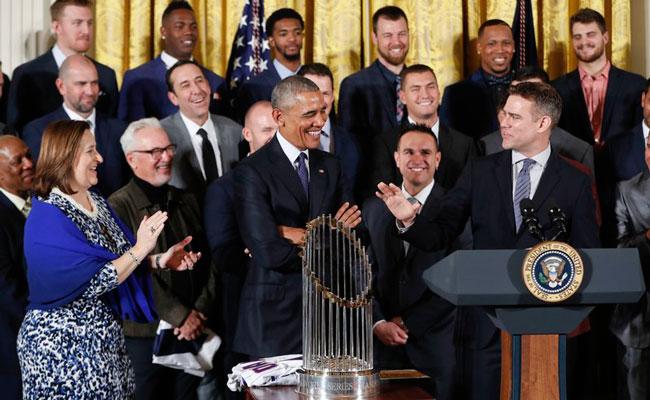 Los Cachorros de Chicago visitan a Obama en la Casa Blanca