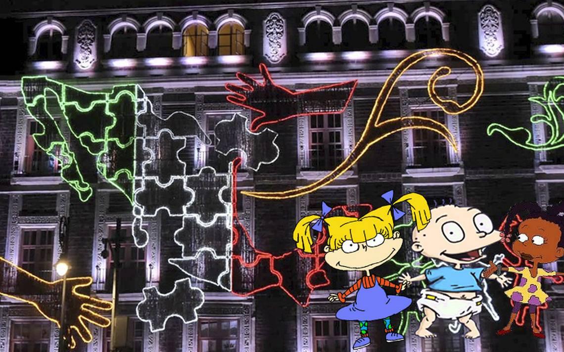 ¡Independencia en pañales! Los Rugrats protagonizan decoración en el Zócalo