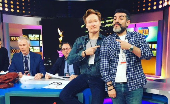 """""""Los mexicanos están ansiosos de saber de usted"""": Conan O´Brien"""