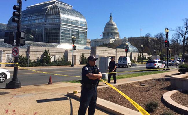 Policía de EU arresta a mujer causante de disparos cerca del Capitolio