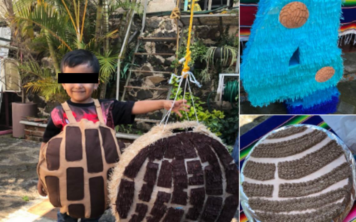 Disfraz, piñata y pastel: niño pidió su fiesta de cumpleaños de concha de pan