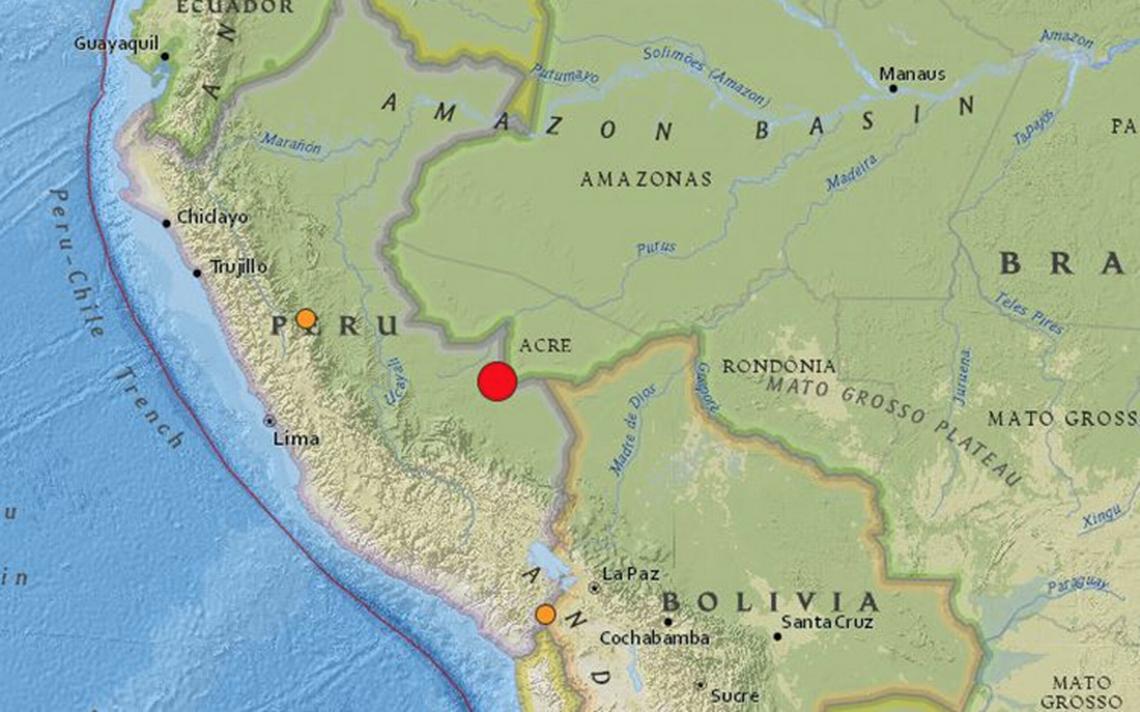 Terremoto de 7 grados sacude frontera entre Perú y Brasil