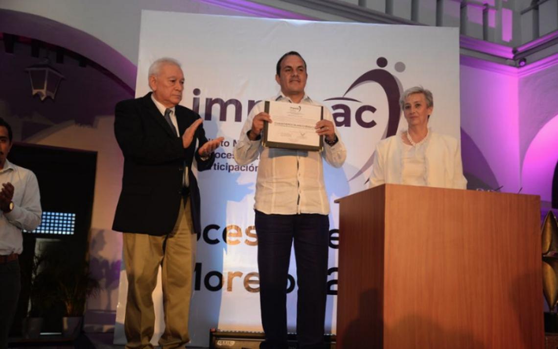 Recibe Cuauhtémoc Blanco constancia de mayoría como gobernador morelense